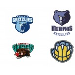 Memphis Grizzlies 4 logos Machine Embroidery Design for instant download