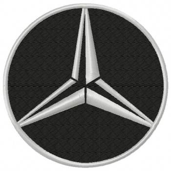 Mercedes-Benz 3 Logos Machine Embroidery Design for instant download