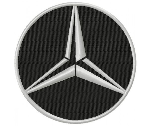 Benz 3 logos machine embroidery design for instant download mercedes benz 3 logos machine embroidery design for instant download voltagebd
