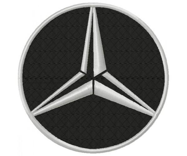 Mercedes-Benz 3 Logos Machine Embroidery Design For