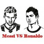 Messi vs Ronaldo machine embroidery design for instant download