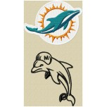 Miami Dolphins logo machine embroidery design for instant download