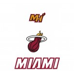 Miami Heat logo machine embroidery design for instant download
