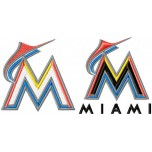 Miami Marlins logo machine embroidery design for instant download