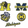 Michigan state wolverines logo machine embroidery design for instant download