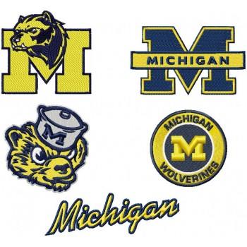 Michigan State Machine Embroidery Design