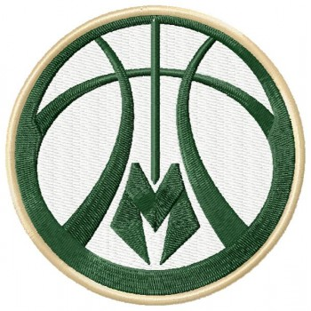 Milwaukee Bucks logos machine embroidery design for instant download