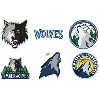 Minnesota Timberwolves logos machine embroidery design for instant download