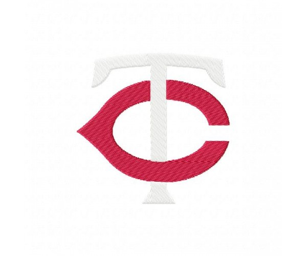 Minnesota twins logos machine embroidery design for