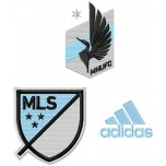 Minnesota United FC logo machine embroidery design for instant download