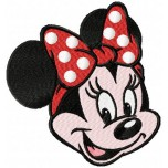 Minnie mouse face machine embroidery design for instant download