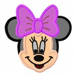 Minnie mouse applique machine embroidery design for instant download