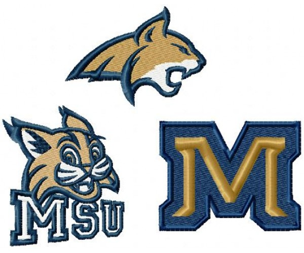 Montana State Bobcats Logos Machine Embroidery Design For Instant