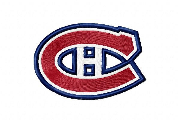 Montreal canadiens logo machine embroidery design for