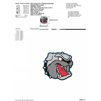 NCU Asheville Buldogs logos machine embroidery design for instant download