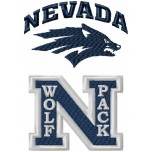 Nevada Wolf Pack logo machine embroidery design for instant download