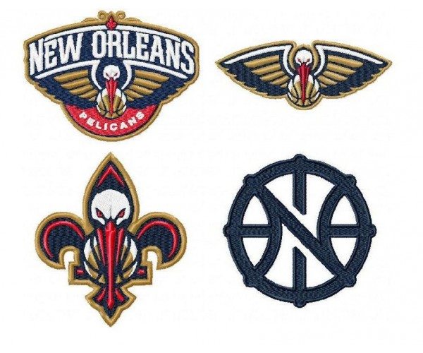 New Orleans Pelicans Logo Machine Embroidery Design For Instant Download