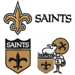 New Orleans Saints logo machine embroidery design for instant download