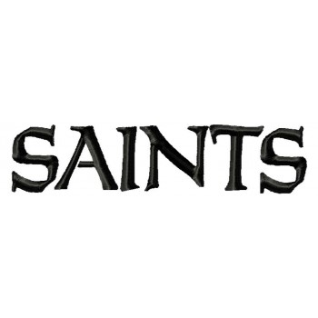 New Orleans Saints Logo Machine Embroidery Design For