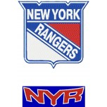 New York Rangers 2 logos machine embroidery design for instant download