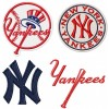 New York Yankees logo machine embroidery design for instant download