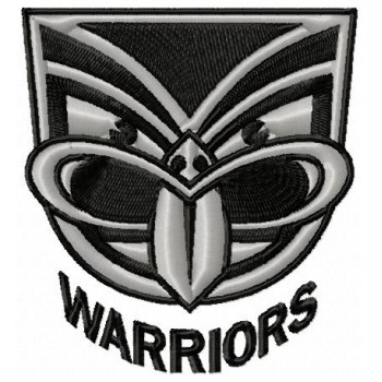 New Zealand Warriors logo machine embroidery design for instant download