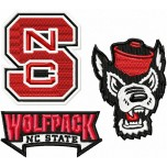 North Carolina State Wolfpack logos machine embroidery design for instant download