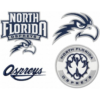 North Florida Ospreys logos machine embroidery design for instant download