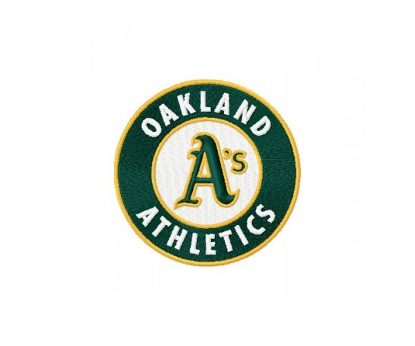 Oakland Athletics 3 Logos Machine Embroidery Design For
