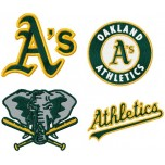 Oakland Athletics 4 logos machine embroidery design for instant download