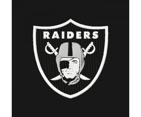 Oakland Raiders Logo Machine Embroidery Design For Instant