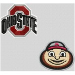 Ohio State Buckeyes logo machine embroidery design for instant download