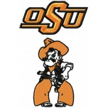 Oklahoma State Cowboys logo machine embroidery design for instant download
