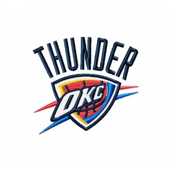 Oklahoma City Thunder logo machine embroidery design for instant download
