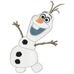 Olaf frozen machine embroidery design for instant download