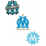 Olympique de Marseille 3 logos machine embroidery design for instant download