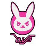 Overwatch d.va bunny machine embroidery design for instant download
