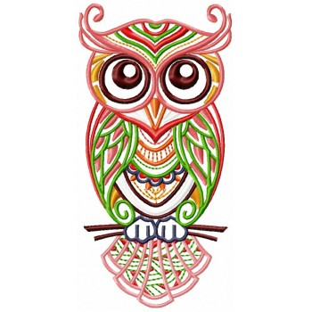 Owl machine embroidery design for instant download