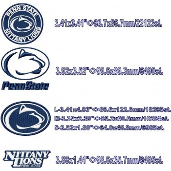 Penn State Nittany Lions logo machine embroidery design for instant download