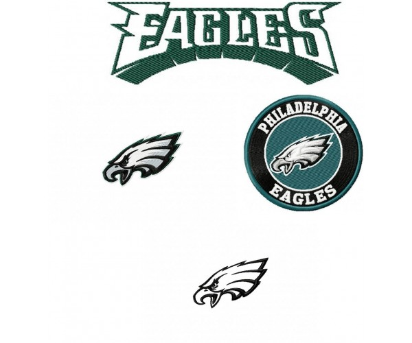 the best attitude d63f7 65e55 Philadelphia Eagles logo machine embroidery design for ...