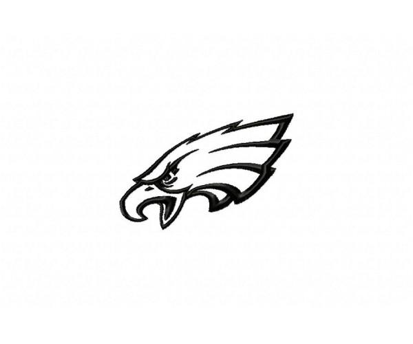 Philadelphia Eagles Logo Machine Embroidery Design For Instant Download