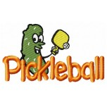Pickleball machine embroidery design for instant download
