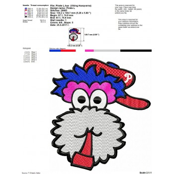Pirate machine embroidery design for instant download