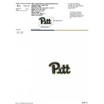 Pittsburgh Panthers logos machine embroidery design for instant download