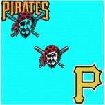 Pittsburgh Pirates logos machine embroidery design for instant download