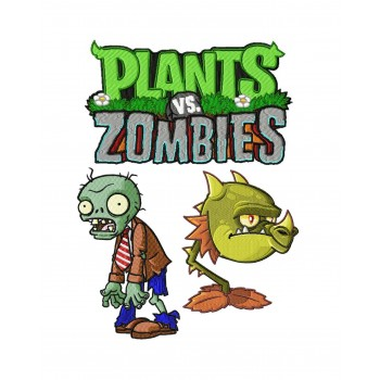 Plants vs zombies 3 machine embroidery designs in package for instant download