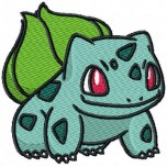 Pokemon Bulbasaur machine embroidery design for instant download