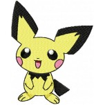 Pokemon Pichu machine embroidery design for instant download