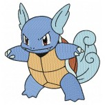Pokemon Wartortle machine embroidery design for instant download
