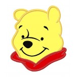Pooh aplique machine embroidery design for instant download
